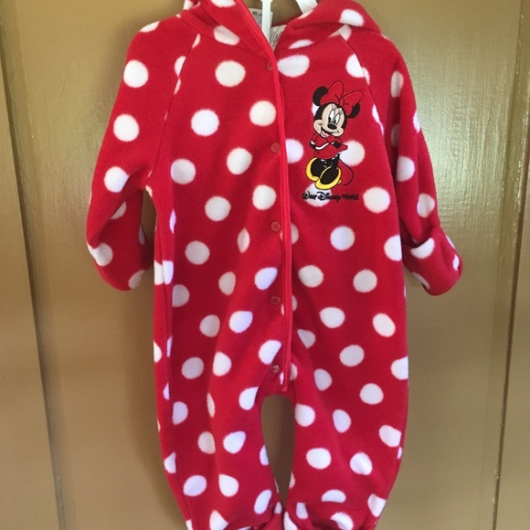 ef3dd7aac Disney One Pieces | Minnie Mouse Fleece Bunting For Baby | Poshmark